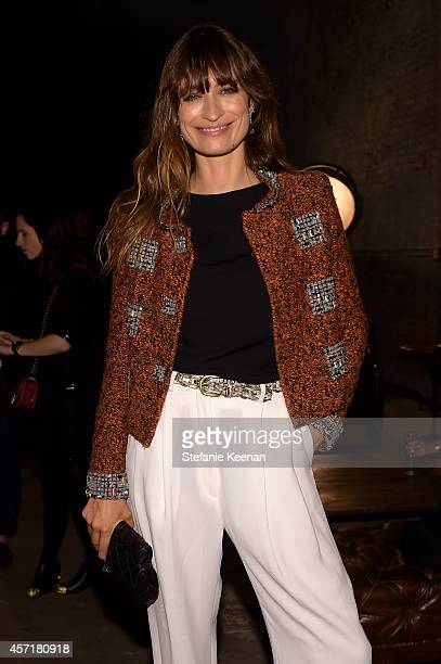 Model Caroline de Maigret attends the CHANEL Dinner Celebrating N°5 THE FILM by Baz Luhrmann on October 13 2014 in New York City