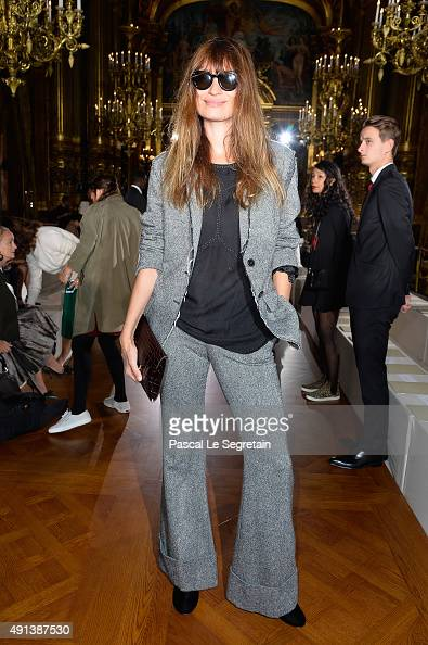 Model Caroline de Maigret attends the Stella McCartney show as part of the Paris Fashion Week Womenswear Spring/Summer 2016 on October 5 2015 in...