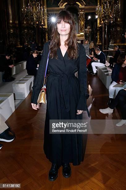 Model Caroline de Maigret attends the Stella McCartney show as part of the Paris Fashion Week Womenswear Fall/Winter 2016/2017 Held at Opera Garnier...
