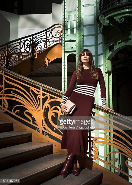 Model Caroline de Maigret is photographed for Madame Figaro on October 4 2016 in Paris France PUBLISHED IMAGE CREDIT MUST READ Louis...