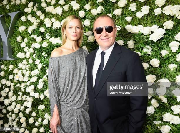 Model Caroline Murphy and designer Michael Kors attends the 2017 Tony Awards at Radio City Music Hall on June 11 2017 in New York City
