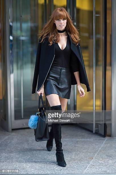 Model Caroline Silta attends the 2016 Victoria's Secret Fashion Show call backs on October 24 2016 in New York City