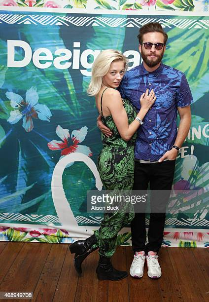 Model Caroline Vreeland attends Kari Feinstein's Music Festival Style Lounge at Sunset Marquis Hotel Villas on April 8 2015 in West Hollywood...