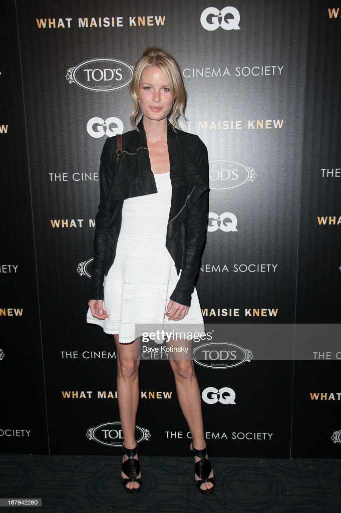 Model Caroline Winberg attends a screening hosted by The Cinema Society With Tod's & GQ of Millennium Entertainment's 'What Maisie Knew' presented by The Cinema Society at Sunshine Landmark on May 2, 2013 in New York City.