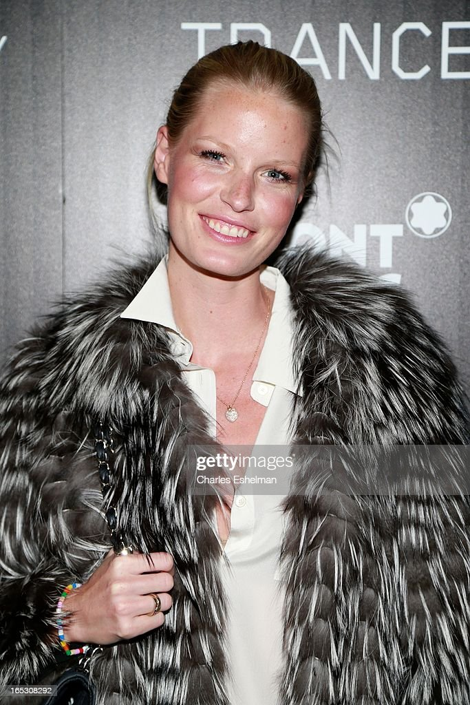 Model Caroline Winberg attends The Cinema Society & Montblanc Host Fox Searchlight Pictures' 'Trance' at SVA Theatre on April 2, 2013 in New York City.