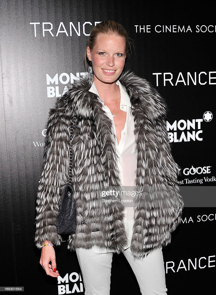 Model Caroline Winberg attends the premiere of Fox Searchlight Pictures' 'Trance' hosted by The Cinema Society & Montblanc at SVA Theater on April 2, 2013 in New York City.