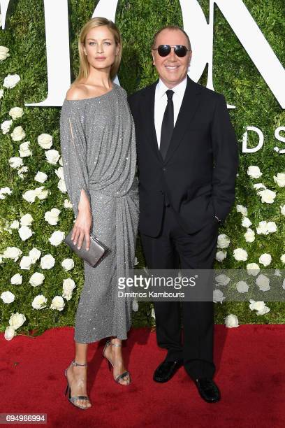 Model Carolyn Murphy and Michael Kors attend the 2017 Tony Awards at Radio City Music Hall on June 11 2017 in New York City