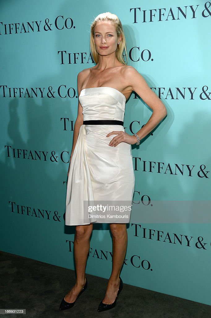 Model Carolyn Murphy is wearing Diamonds from the Tiffany & Co. 2013 Blue Book Collection as she attends the Tiffany & Co. Blue Book Ball at Rockefeller Center on April 18, 2013 in New York City.