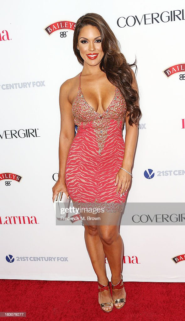 Model Carrisa Rosario attends Latina Magazine's 'Hollywood Hot List' Party at The Redbury Hotel on October 3, 2013 in Hollywood, California.
