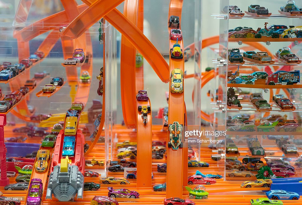 Model cars 'Hot wheels' made by Mattel are pictured at the Nuremberg International Toy Fair (Nuernberger Spielwarenmesse) on January 29, 2014 in Nuremberg, Germany. The Nuremberg toy fair, which is the worldÕs biggest trade fair for toys, is open to the public from January 29 until February 3.