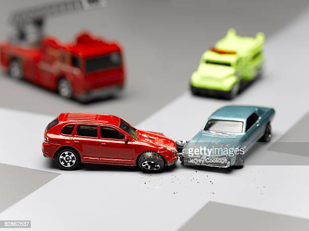 model cars in accident
