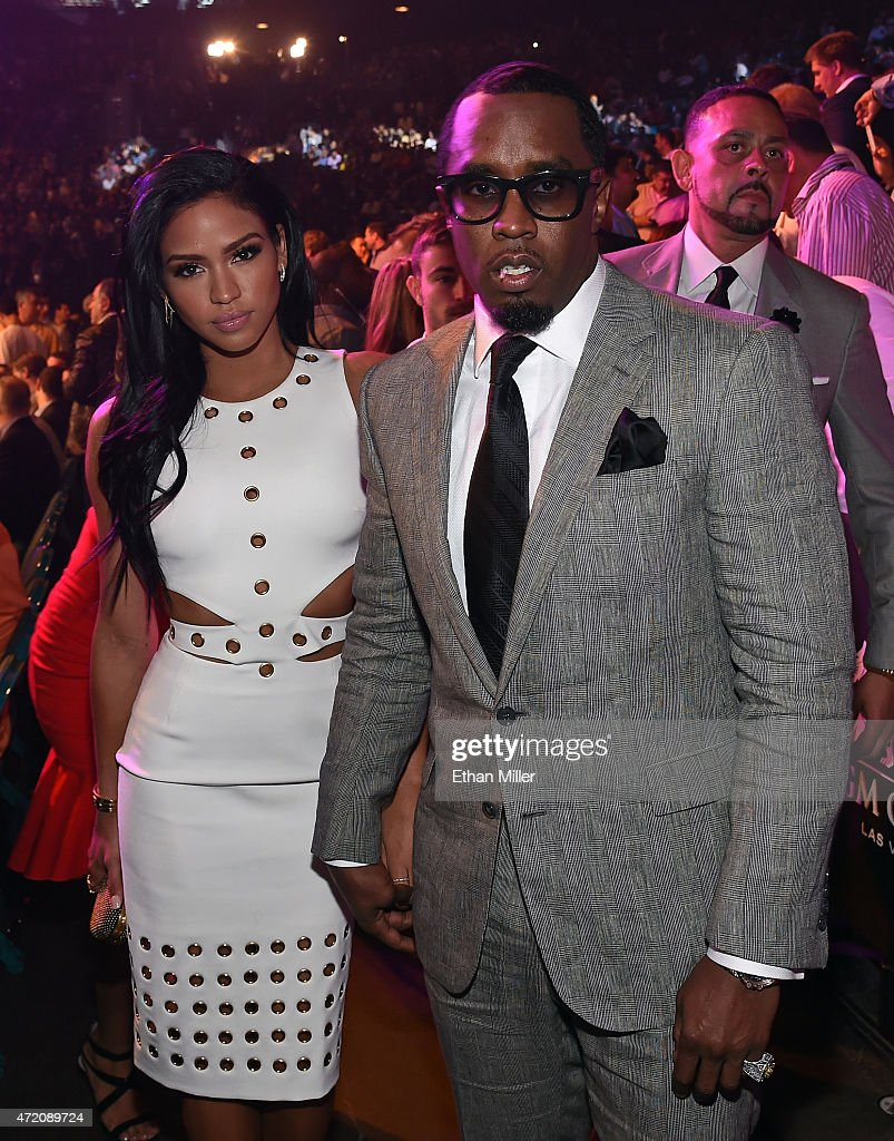 Model Cassie Ventura and recording artist Sean 'Puff Daddy' Combs arrive at 'Mayweather VS Pacquiao' presented by SHOWTIME PPV And HBO PPV at MGM...