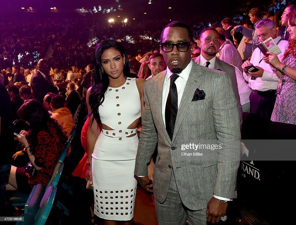 Model Cassie Ventura and Sean 'Puff Daddy' Combs pose ringside at 'Mayweather VS Pacquiao' presented by SHOWTIME PPV And HBO PPV at MGM Grand Garden...