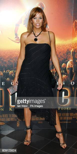 Model Catalina Guirado arrives for the premiere of The Chronicles Of Riddick at the Vue West End in Leicester Square central London