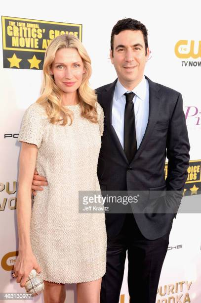 Model Catherine McCord and producer Jonathan Gordon attends the 19th Annual Critics' Choice Movie Awards at Barker Hangar on January 16 2014 in Santa...