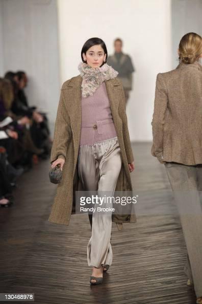 Model Cecilia Mendez walks the runway wearing Ralph Lauren Fall 2009 during MercedesBenz Fashion Week at Skylight Studio on February 20 2009 in New...