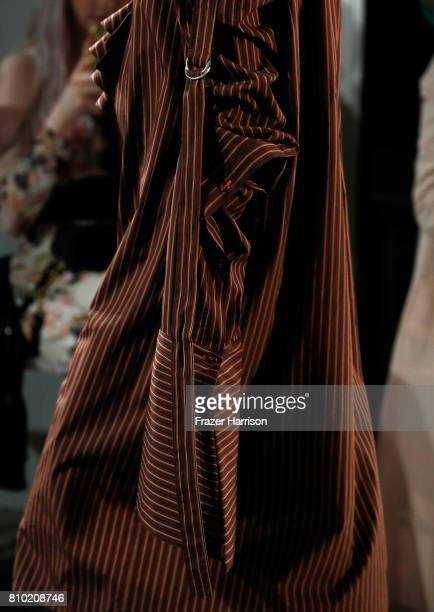 Model Celine Bethmann fashion detail walks the runway at the Franziska Michael show during the MercedesBenz Fashion Week Berlin Spring/Summer 2018 at...