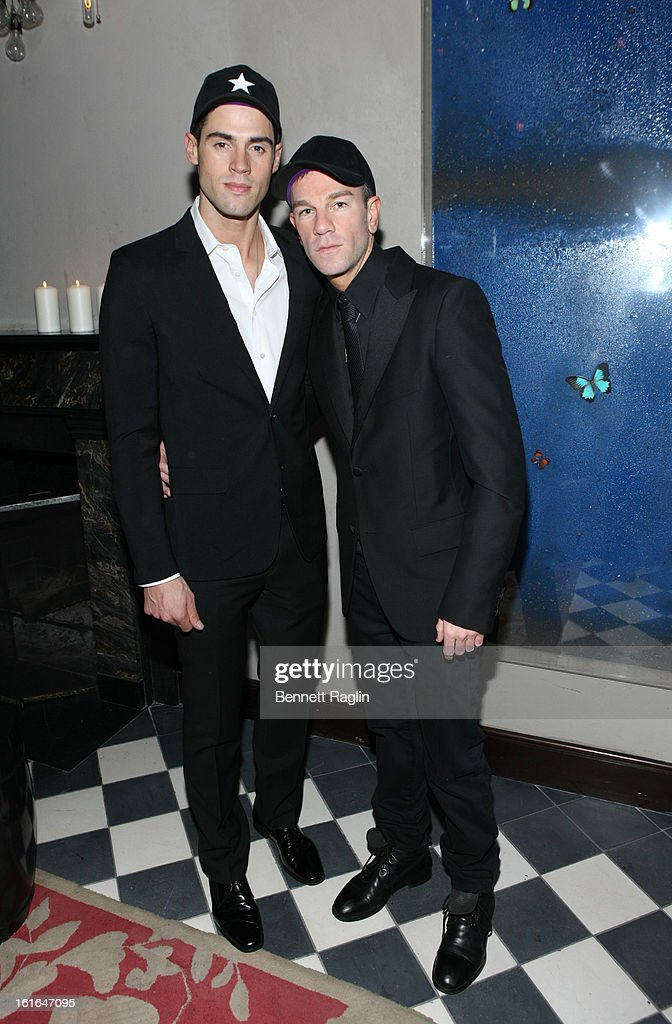 Model Chad White and Gents CEO and Founder Josh Reed attend the Gents launch event at Gramercy Terrace at The Gramercy Park Hotel on February 13 2013...
