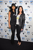 Model Chanel Iman and DJ Leigh Lezark attend DreamYard BronxWide Poetry Slam hosted by Mad Over You at Joe's Pub and The Library at the Public...