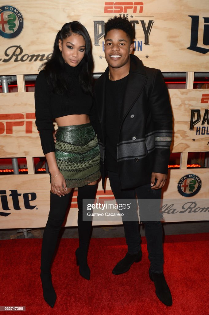 Model Chanel Iman and NFL player Sterling Shepard attends the 13th Annual ESPN The Party on February 3, 2017 in Houston, Texas.
