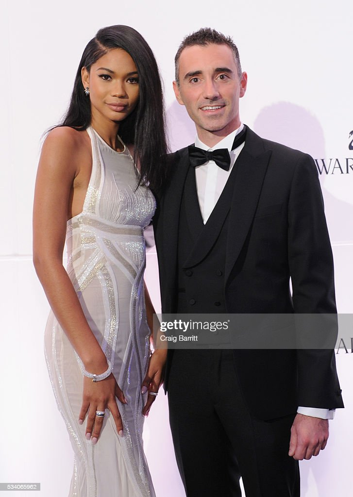 Model <a gi-track='captionPersonalityLinkClicked' href=/galleries/search?phrase=Chanel+Iman&family=editorial&specificpeople=2905732 ng-click='$event.stopPropagation()'>Chanel Iman</a> and Swarovski Senior Vice President Branding, Communication, Media CGB & Corporate Brand Management Alessandro Vergano attend Swarovski #bebrilliant at The Weather Room at the Top of the Rock on May 24, 2016 in New York City.