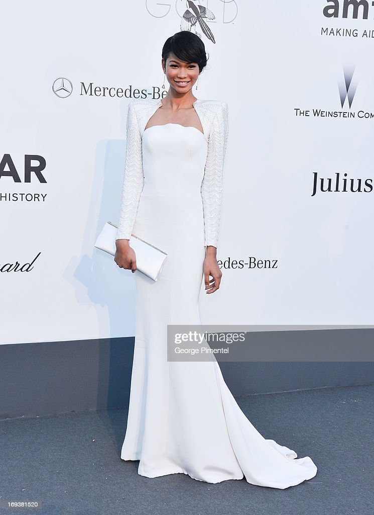 Model Chanel Iman arrives at amfAR's 20th Annual Cinema Against AIDS at Hotel du Cap-Eden-Roc on May 23, 2013 in Cap d'Antibes, France.