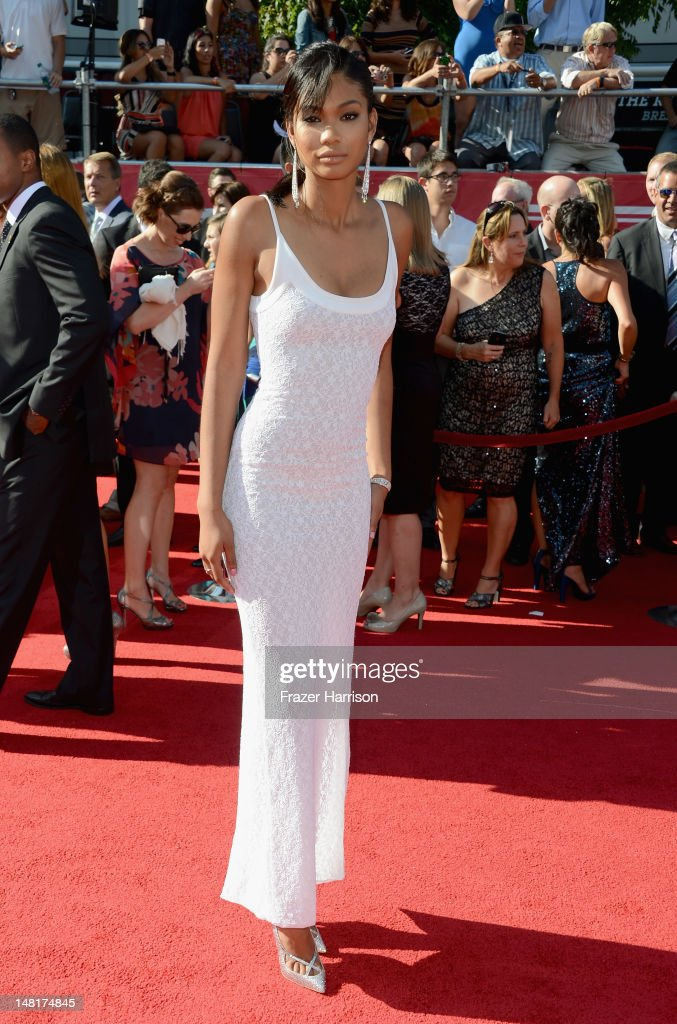 Model Chanel Iman arrives at the 2012 ESPY Awards at Nokia Theatre L.A. Live on July 11, 2012 in Los Angeles, California.