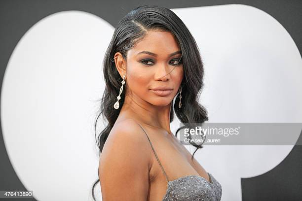 Model Chanel Iman arrives at the Los Angeles Film Festival premiere of 'Dope' at Regal Cinemas LA Live on June 8 2015 in Los Angeles California