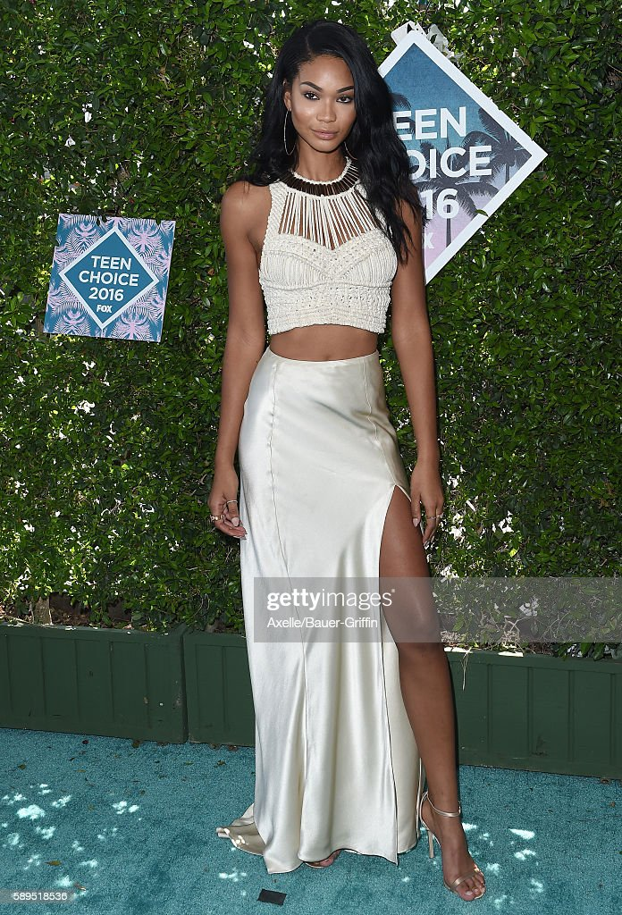 Model Chanel Iman arrives at the Teen Choice Awards 2016 at The Forum on July 31 2016 in Inglewood California