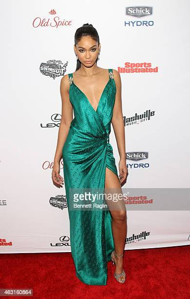 Model Chanel Iman attends 2015 Sports Illustrated Swimsuit Celebration at Marquee on February 10 2015 in New York City