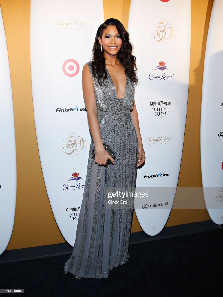 Model <a gi-track='captionPersonalityLinkClicked' href=/galleries/search?phrase=Chanel+Iman&family=editorial&specificpeople=2905732 ng-click='$event.stopPropagation()'>Chanel Iman</a> attends as Captain Morgan White Rum and Crown Royal XO raise a glass to the Sports Illustrated Swimsuit 50 Years of Swim Issue at the Sports Illustrated Swimsuit Beach House on February 18, 2014 in New York City.