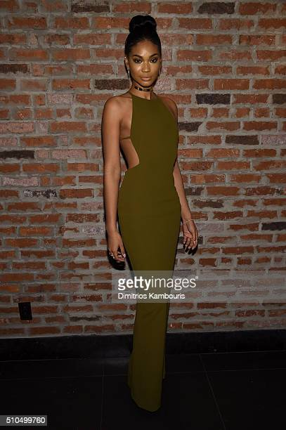 Model Chanel Iman attends IMG Models Celebrates The Sports Illustrated Swimsuit issue at Vandal on February 15 2016 in New York City