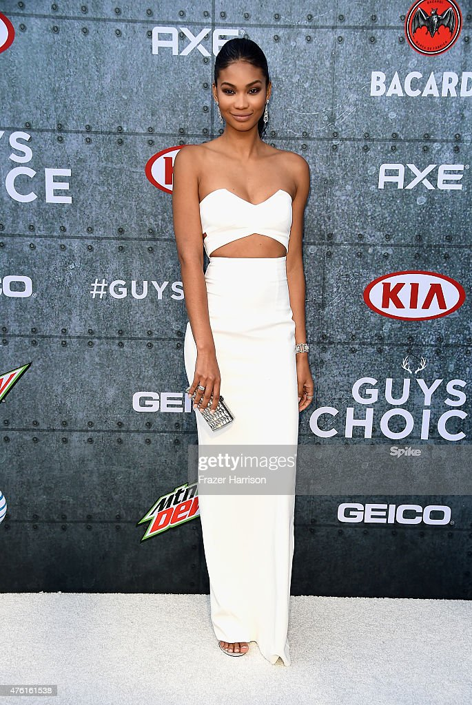 Model Chanel Iman attends Spike TV's Guys Choice 2015 at Sony Pictures Studios on June 6 2015 in Culver City California