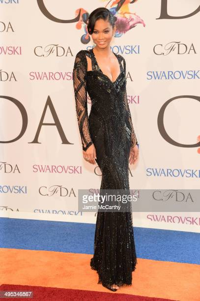 Model Chanel Iman attends the 2014 CFDA fashion awards at Alice Tully Hall Lincoln Center on June 2 2014 in New York City