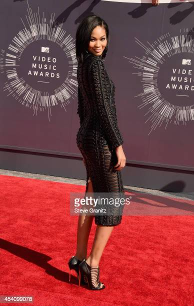 Model Chanel Iman attends the 2014 MTV Video Music Awards at The Forum on August 24 2014 in Inglewood California