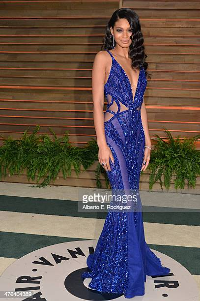 Model Chanel Iman attends the 2014 Vanity Fair Oscar Party hosted by Graydon Carter on March 2 2014 in West Hollywood California