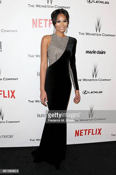 Model Chanel Iman attends the 2015 Weinstein Company and Netflix Golden Globes After Party at Robinsons May Lot on January 11 2015 in Beverly Hills...