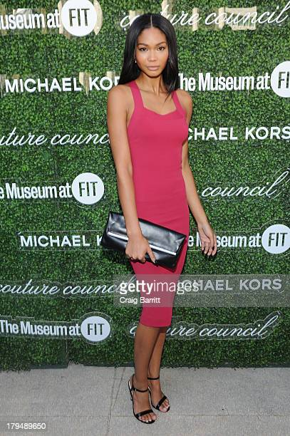Model Chanel Iman attends The Couture Council of The Museum at the Fashion Institute of Technology hosted luncheon honoring Michael Kors with the...