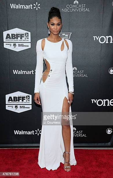 Model Chanel Iman attends the 'Dope' Opening Night Premiere at the 2015 American Black Film Festival at SVA Theater on June 11 2015 in New York City