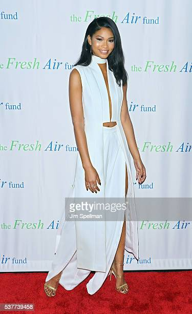 Model Chanel Iman attends the Fresh Air Fund 140th Birthday Celebration and 2016 Spring Benefit at Pier Sixty at Chelsea Piers on June 2 2016 in New...