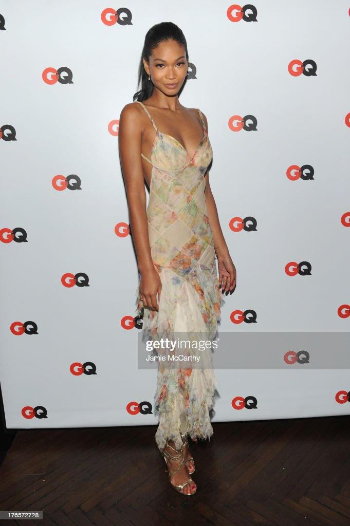 Model Chanel Iman attends the GQ 'What To Wear Now' Special Issue Party at The Highline Hotel on August 15, 2013 in New York City.
