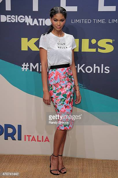 Model Chanel Iman attends the Milly For DesigNation Collection Launch at Isola Trattoria Crudo Bar on April 22 2015 in New York City