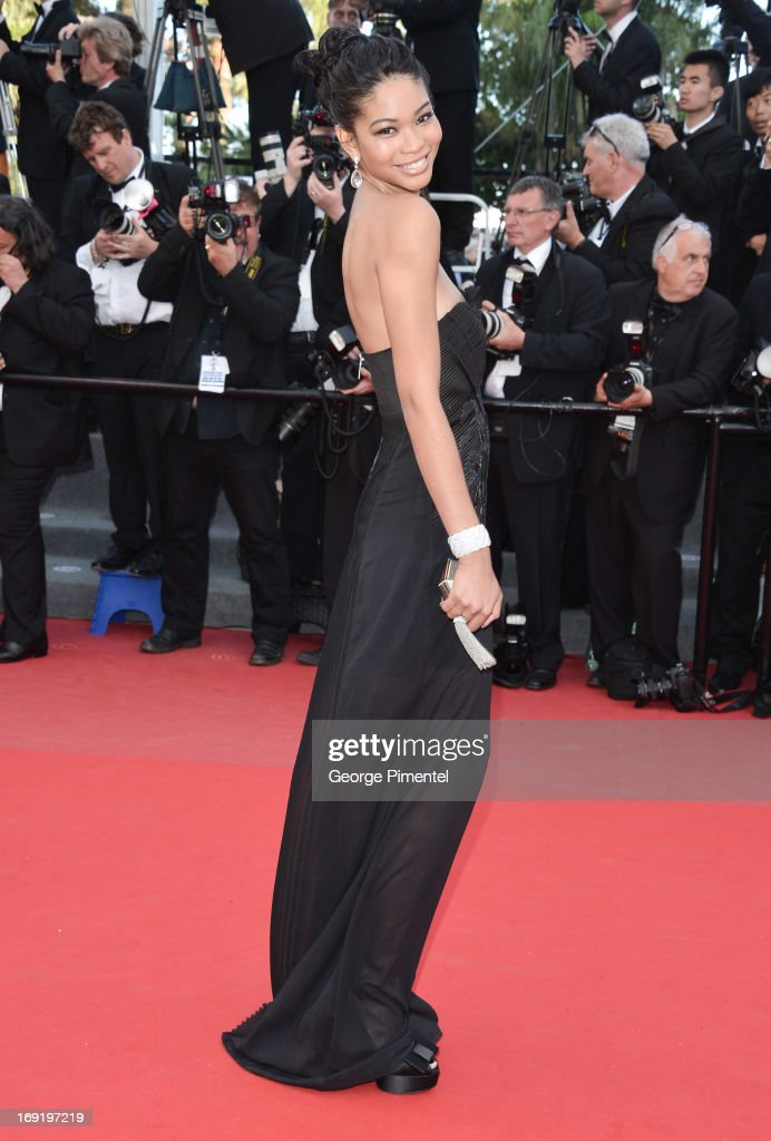 Model Chanel Iman attends the Premiere of 'Cleopatra' at The 66th Annual Cannes Film Festival>> on May 21, 2013 in Cannes, France.