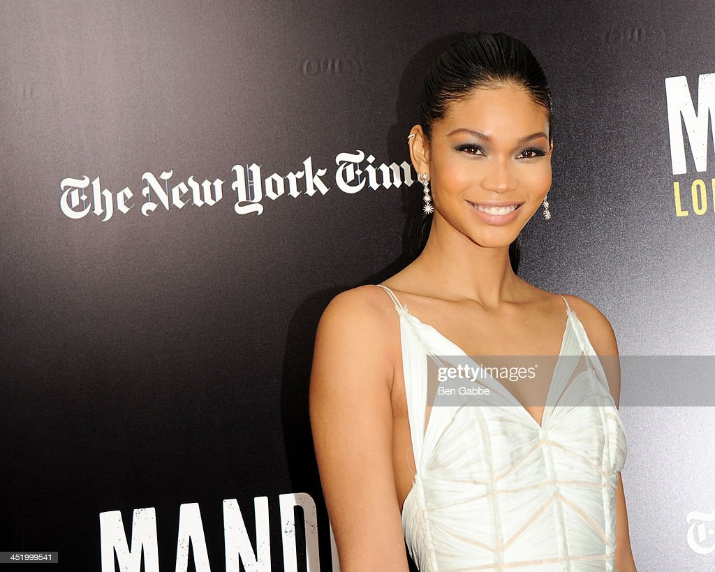 Model <a gi-track='captionPersonalityLinkClicked' href=/galleries/search?phrase=Chanel+Iman&family=editorial&specificpeople=2905732 ng-click='$event.stopPropagation()'>Chanel Iman</a> attends the screening of 'Mandela: Long Walk to Freedom', hosted by U2, Anna Wintour and Bob & Harvey Weinstein, with Burberry at the Ziegfeld Theater on November 25, 2013 in New York City.