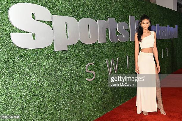 Model Chanel Iman attends the Sports Illustrated Swimsuit 2016 NYC VIP press event on February 16 2016 in New York City