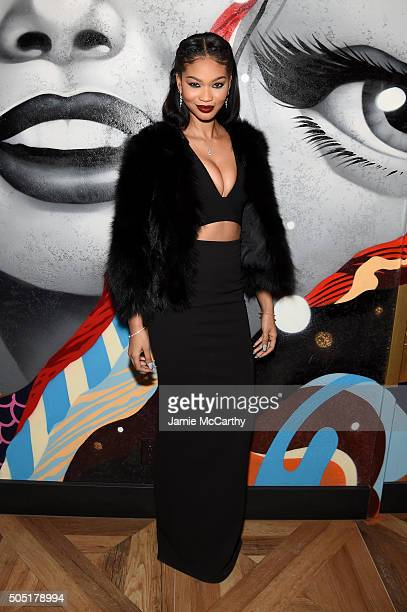 Model Chanel Iman attends the VANDAL Grand Opening in New York City on January 15 2016 in New York City