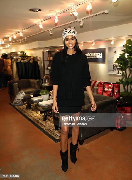 Model Chanel Iman attends The Variety Studio At Sundance Presented By Dockers on January 25 2015 in Park City Utah