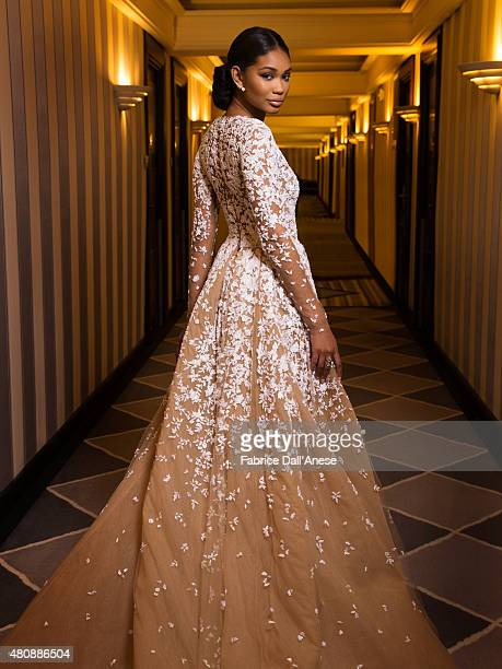 Model Chanel Iman is photographed for Vanity Faircom on May 15 2015 in Cannes France