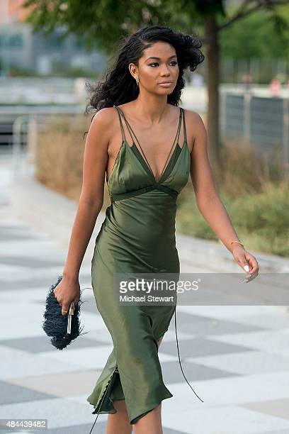 Model Chanel Iman seen walking in Tribeca on August 18 2015 in New York City