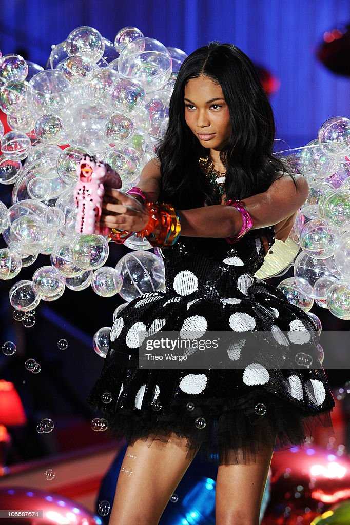 Model <a gi-track='captionPersonalityLinkClicked' href=/galleries/search?phrase=Chanel+Iman&family=editorial&specificpeople=2905732 ng-click='$event.stopPropagation()'>Chanel Iman</a> walks the runway during the 2010 Victoria's Secret Fashion Show at the Lexington Avenue Armory on November 10, 2010 in New York City.
